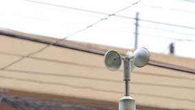 Anemometer at weather station.
