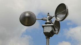 Anemometer, wind speed measuring equipment stock video footage