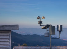 Anemometers for measuring wind speed Royalty Free Stock Photo