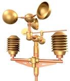 anemometru złota weatherstation Zdjęcie Royalty Free