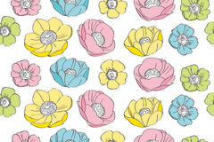 Anemone flower pattern. This is an illustration of anemone flower pattern vector illustration