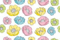 Anemone flower pattern Royalty Free Stock Photo