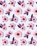 Anemone flower seamless pattern. Vector illustration eps 10 stock illustration