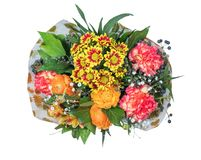 anemonowego bukieta kolorowy kwiatów ranunculus wiosna tulipan Fotografia Stock