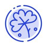 Anemoon, Anemone Flower, Bloem, het Blauwe Pictogram van de de Gestippelde Lijnlijn van de de Lentebloem stock illustratie