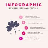 Anemoon, Anemone Flower, Bloem, het Stevige Pictogram Infographics 5 van de de Lentebloem de Achtergrond van de Stappenpresentati royalty-vrije illustratie