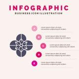 Anemoon, Anemone Flower, Bloem, het Stevige Pictogram Infographics 5 van de de Lentebloem de Achtergrond van de Stappenpresentati vector illustratie