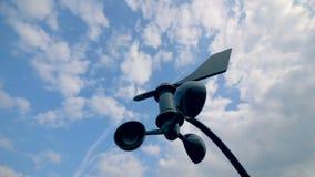 Anenometer, измеряющий прибор направления ветра сток-видео