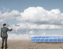 anergy επιχειρηματίας ανανεώσιμος Στοκ φωτογραφία με δικαίωμα ελεύθερης χρήσης