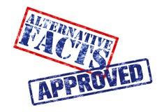 Anerkannte alternative Tatsachen lizenzfreie stockbilder