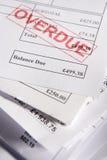 Anerkannte Rechnungen Lizenzfreies Stockbild