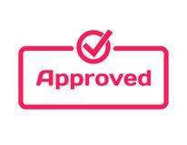 Anerkannte Schablonendialogblase, flache Art auf weißem Hintergrund Basis mit Ikone des Kennzeichens V für verschiedenes Wort des Lizenzfreie Stockfotografie