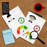 Anerkannter Kandidat für Kreditkonzept vektor abbildung