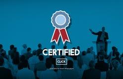 Anerkanntes zugelassenes Qualitäts-Garantie-Prize Preis-Konzept Stockbilder