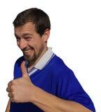 Anerkennend Finger oben Lizenzfreies Stockfoto