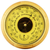 Aneroid barometer above view Royalty Free Stock Photography