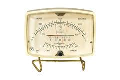 Aneroid barometer hygrometer thermometer. Household aneroid barometer hygrometer thermometer. Isolate image on white background Stock Image