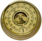Aneroid barometer. On white background stock photos