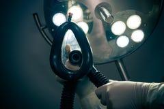 Anestesia en la sala de operaciones Fotos de archivo libres de regalías