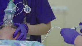 Anestesista Makes Narcosis della donna video d archivio