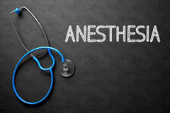 Anesthesia Concept on Chalkboard. 3D Illustration. Stock Photography