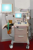 Anesthesia machine. Anaesthetic machine and patient monitoring device in hospital Royalty Free Stock Photos