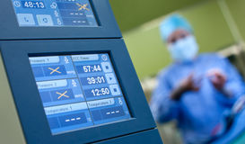 Anesthesia surgery monitors Stock Photos