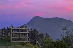 Aneto bei Sonnenuntergang Stockbilder