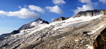 Aneto's glacier view Royalty Free Stock Photos