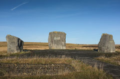 Aneurin Bevan Stones, Tredegar, Wales Royalty Free Stock Photos