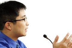 anförande Arkivfoto