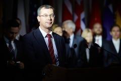 Anförande av politiska partiet Arkivfoto