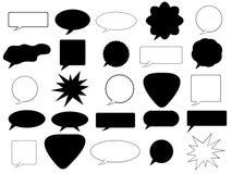 Anförande bubblar Vektor Illustrationer