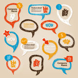 Anförande bubblar illustrationen Royaltyfria Bilder