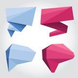 Anförande bubblar origami Arkivbilder