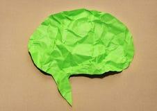 Anförande bubblar pappers- Arkivbild