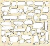 anförande för bubblaklotteranteckningsbok Arkivbild