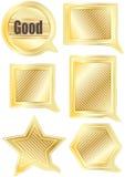 anförande för form för eps-guld set stock illustrationer