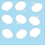 anförande för jpeg för tillgängliga format för bubblor eps8 set Arkivbild