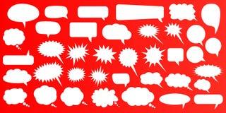 anförande för jpeg för tillgängliga format för bubblor eps8 set Vita anförandebubblor för tom tom vektor Design för tecknad filmb royaltyfri illustrationer