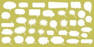 anförande för jpeg för tillgängliga format för bubblor eps8 set Vita anförandebubblor för tom tom vektor Design för tecknad filmb stock illustrationer