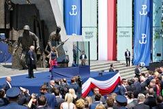 Anförande för president Donald Trump till folket av Polen Royaltyfri Foto