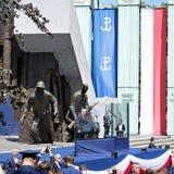 Anförande för president Donald Trump till folket av Polen Royaltyfria Foton