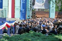 Anförande för president Donald Trump till folket av Polen Royaltyfri Bild