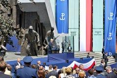 Anförande för president Donald Trump till folket av Polen Fotografering för Bildbyråer
