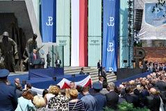 Anförande för president Donald Trump till folket av Polen Arkivfoton
