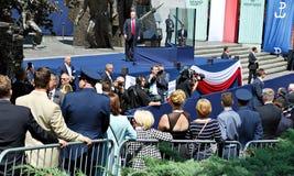 Anförande för president Donald Trump till folket av Polen Royaltyfri Fotografi