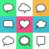 Anförande och tanke bubblar med utrymme för text in stock illustrationer