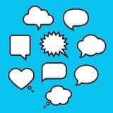Anförande och tanke bubblar med utrymme för text in vektor illustrationer