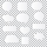 Anförande och tanke bubblar med utrymme för text Royaltyfri Fotografi